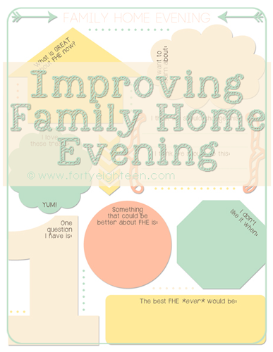 Improve your Family Home Evenings with this free printable from Forty Eighteen