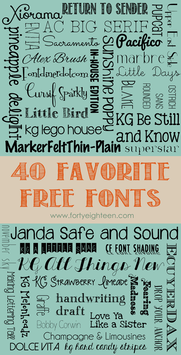 40 Favorite Free Fonts from Forty Eighteen