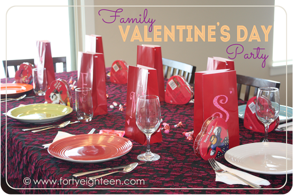 Family Valentine's Day celebration