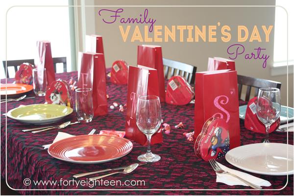 Family Valentine's Day celebration
