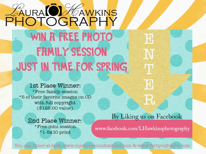 Enter to win a family photo session from Laura Hawkins Photography in Utah.
