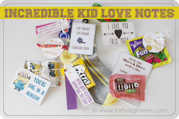 What a fun and simple way to make my kids' day! Love these free #printable notes.