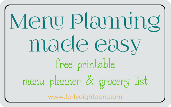 Meal planning will be so much easier with this #printable menu planner and grocery list. I won't have to run to the store every night.
