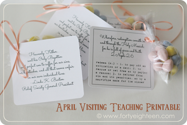 April Visiting Teaching printables
