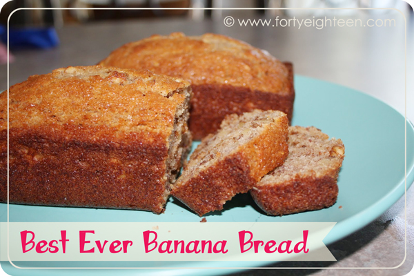 Best Ever Banana Bread from Forty Eighteen