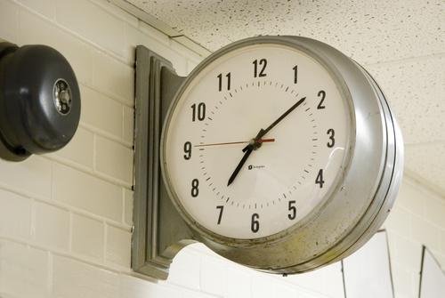 school bell clock